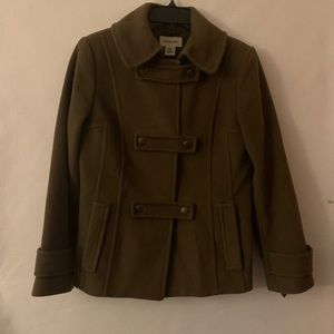 St. John's Bay Dark Green Clasp Coat Size Small